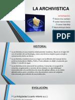 LA ARCHIVISTICA.pptx