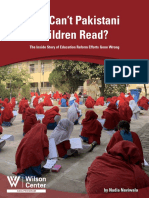 Why Cant Pakistani Children Read