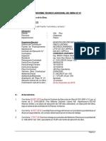 Informe Tecnico Adicional de Obra N 01 River