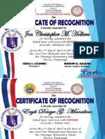 Academic Excellence Award Sir Marjon