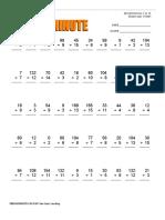 Web Math Minute Div 0-15