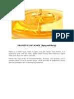 Honey Properties