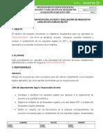 Procedimiento de Requisitos Legales Modelo