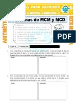 Problemas de MCM y MCD Para Sexto de Primaria