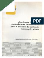 Disposiciones legales y recomendaciones internacionales para la proteccion del patrimonio monumental urbano.pdf