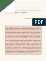Lenguaje Del Vestido de Claudio Malo
