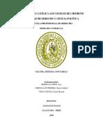 Ley Del Sistema Concursal Comercial Practica