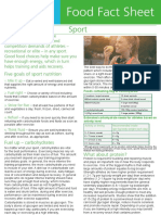 food facts sheet sports