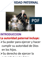 La autoridad paternal