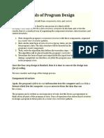Fundamentals of Program Design