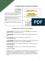 Affidavit of a Felony Template