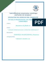 Analisis Dimensional y Similitud Hidraulica