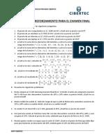 2240_Matematica Aplicada_Ejercicios de Reforzamiento Examen Final_2019-1