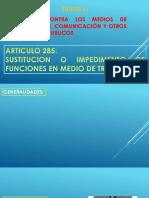 DELITOS PENAL EN CONTRA DE LOS MEDIOS DE TRANSPORTE Y COMUNICACIONAL