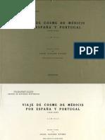 Viajes de Cosme de Medicis por España y Portugal