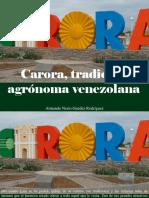 Armando Nerio Guedez Rodríguez - Carora, Tradición Agrónoma Venezolana