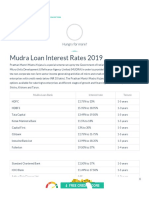 Mudra Loan Interest Rates in India - 22 May 2019 (Updated)