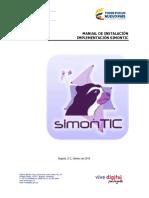 Manual instalación simontic