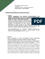 Pesquisa Jurisprudencial- Homologação de Sentança Estrangeira
