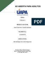 Tarea No. Metodologia de La Investigacion i