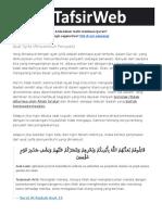 Tafsirweb Com 39137 Ayat Syifa Penyembuh Penyakit HTML