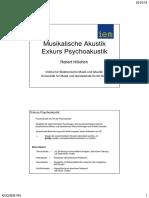 Musikalische Akustik Exkurs Psychoakustik