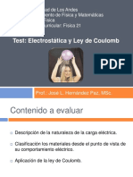 Física 21 - Tema 1 - Electrostática y Ley de Coulomb - Test