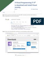 Tutorial 1 Download & Installation of vs Community