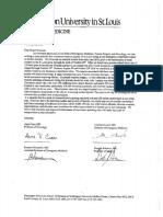 Washington University Professors' Scooter Letter to Mayor