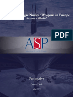 US Non-Strategic Nuclear Weapons in Europe