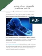 Cuatro Aspectos a Tener en Cuenta Para La Prevención de Un ACV