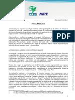 Nota da PFDC sobre diálogos da Lava Jato