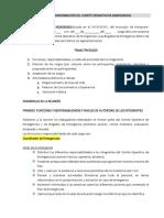 Acta de Conformación Del Comité Emergencias