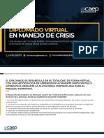 Diplomado Manejo de Crisis CAEP