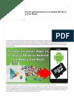 Instalar aplicaciones en tarjeta SD