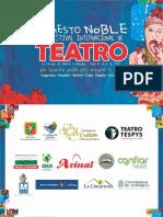 Programación del Festival Internacional de Teatro El Gesto Noble