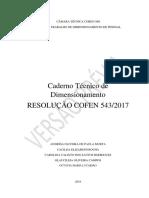 Caderno Técnico de Dimensionamento - Resolução Cofen 543_2017