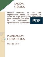 1. Planeación estratégica