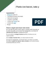Receta de Pasta con jamon.pdf