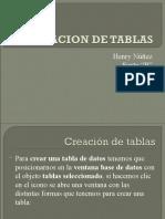 CREACION DE TABLAS