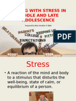 Coping With Stress in Middle and Late Adolescence(1)