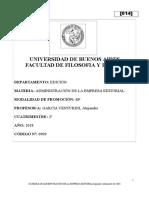 P01 Programa Administración de la Empresa Editorial [2ºcuatrimestre 2018]