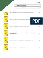 Cartello Chiusura Corsia Destra - Quiz Patente