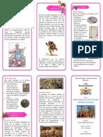 TRÍPTICO Organización Militar Del Imperio Inca