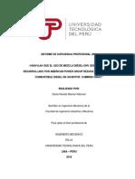 Verificar Que en Uso de Mezcla Diesel-GNV Reduce El Consumo (UTP)