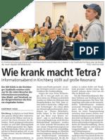 Wie krank macht Tetra? Informationsabend in Kirchberg stößt auf große Resonanz