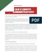 Resumoo de Direito Administrativo - O que é Direito Administrativo?