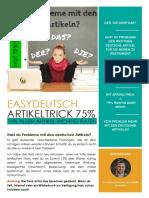 EasyDeutsch-Artikeltrick