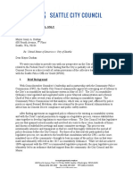 Seattle City Council letter to Mayor Durkan