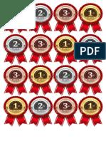 1st 2nd 3rd Badges